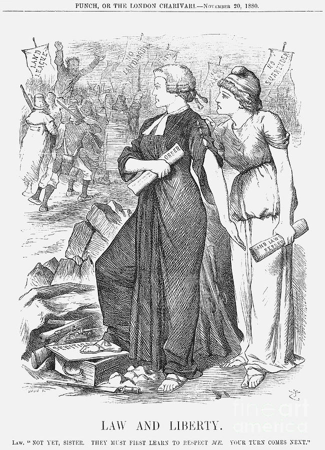 Law And Liberty, 1880. Artist Joseph Drawing by Print Collector