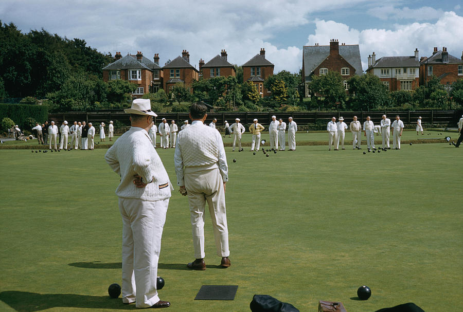 Lawn Bowls Photograph by Slim Aarons