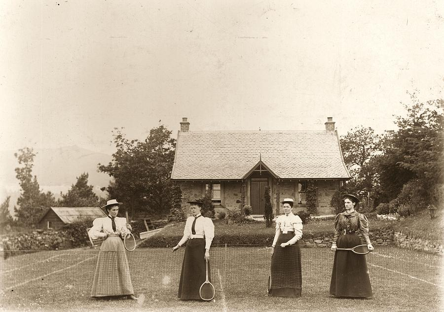 Lawn Tennis Ladies Photograph by Hulton Archive