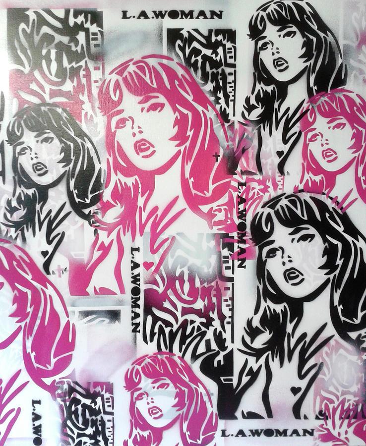 Graffiti Painting - L.a.woman 2 by Abstract Graffiti