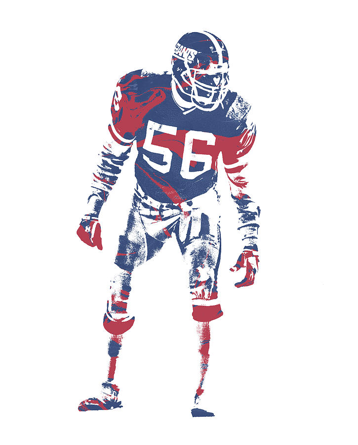 Lawrence Taylor Mixed Media - Lawrence Taylor New York Giants  Pixel Art 4 by Joe Hamilton