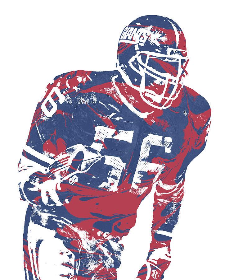 Lawrence Taylor Mixed Media - Lawrence Taylor New York Giants  Pixel Art 5 by Joe Hamilton