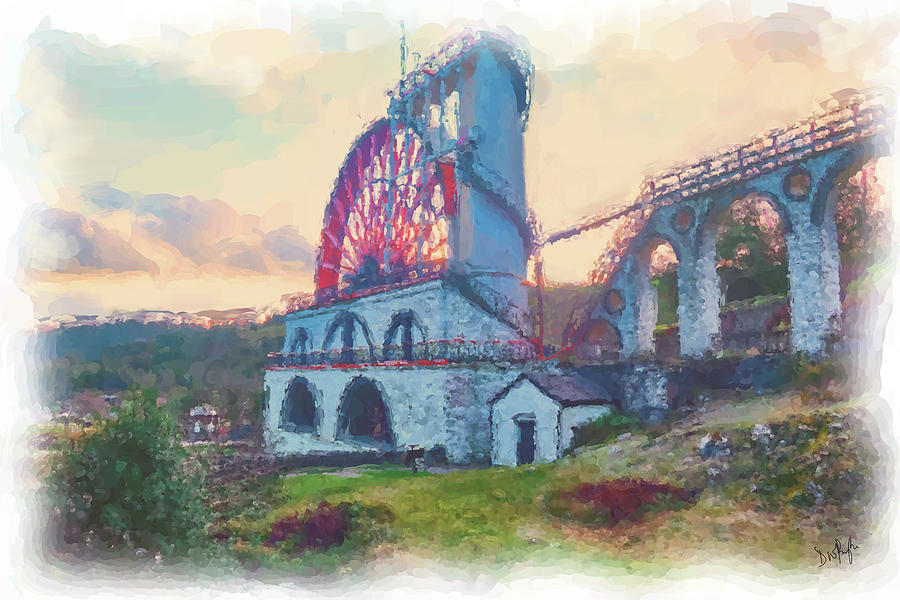 Laxey Wheel 2 by Digital Painting