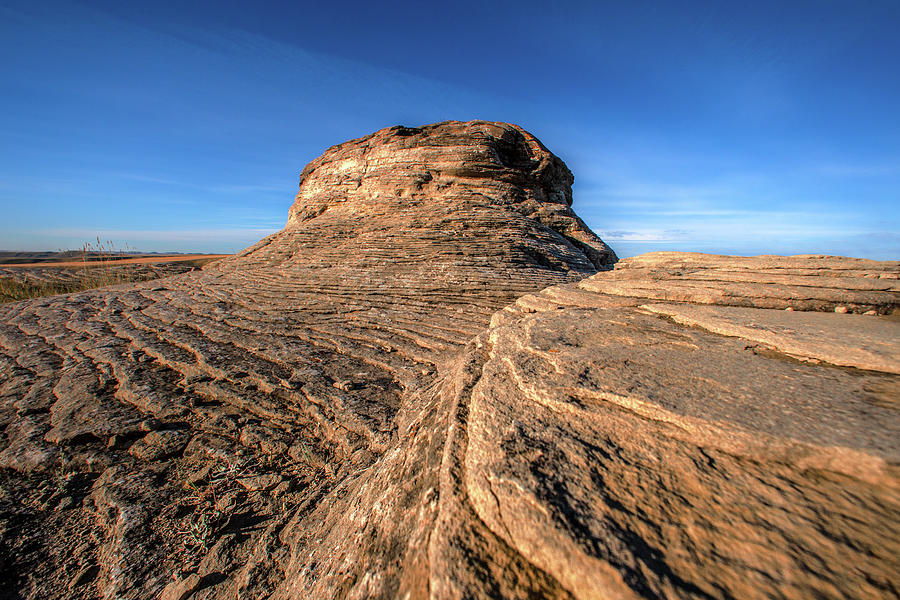Montana Photograph - Layered Rocks by Todd Klassy