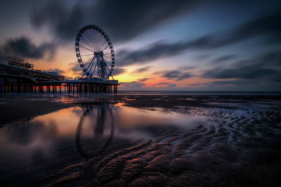 Sunset Photograph - Layers of time by Andrei Dima