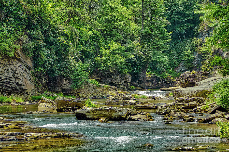 Linville River Photograph - Lazy Linville River by James Foshee