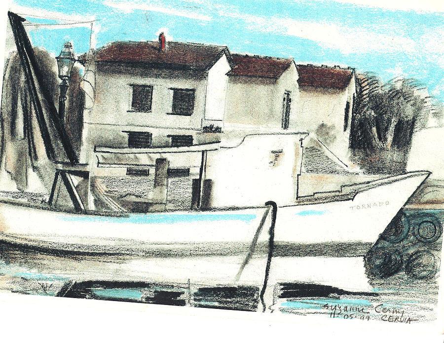 Le Barche galleggianti nel mare Adriatico  by Suzanne Cerny