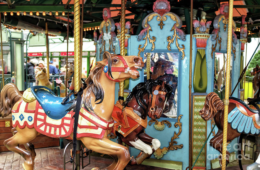 Colors Photograph - Le Carrousel Colors At Bryant Park In New York City by John Rizzuto