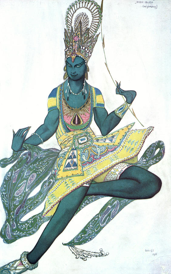 Le Dieu Bleu The Blue God, Ballet Drawing by Print Collector