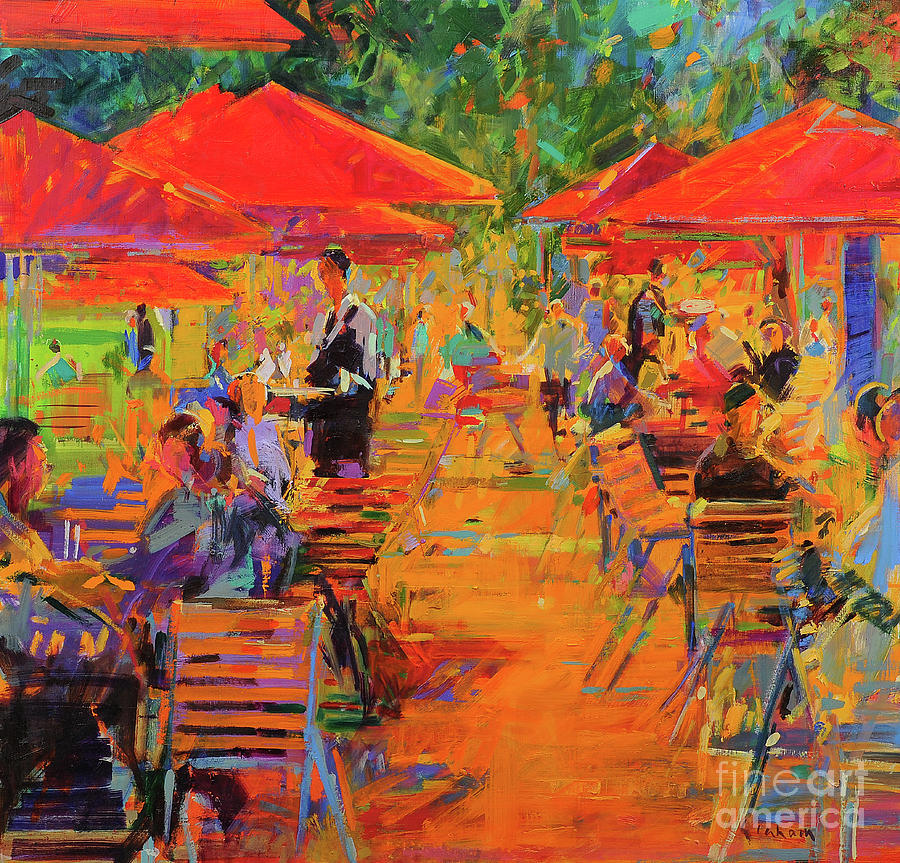 Restaurant Painting - Le Jardin Des Tuileries by Peter Graham