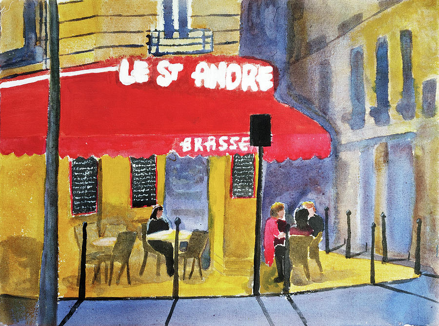 Le St Andre In Evening Painting