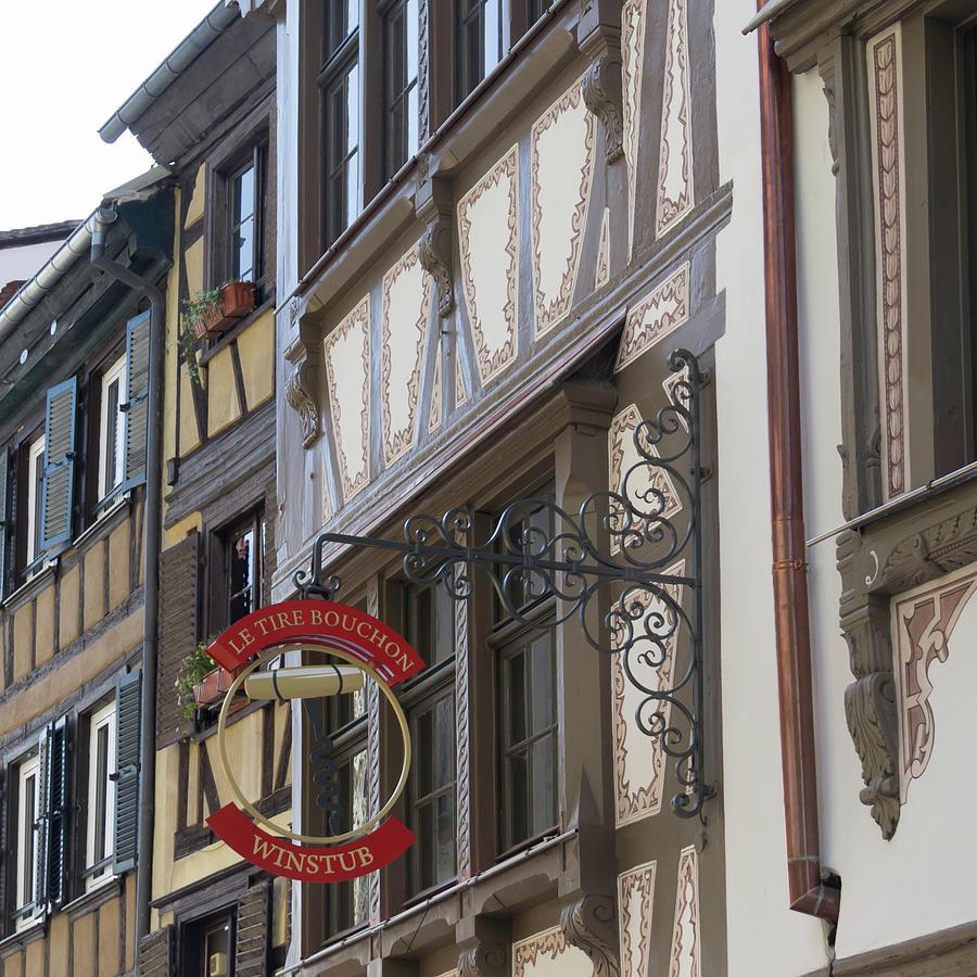 Alsace Photograph - Le Tire Bouchon Winstub Sign by Teresa Mucha