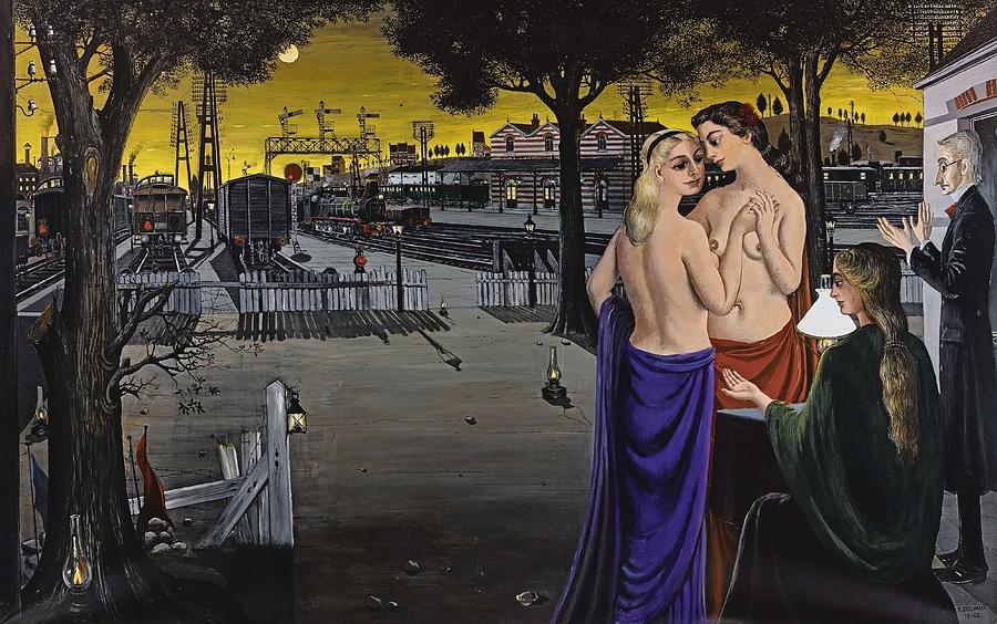 Le Veilleur Iii Ou Horizons  by Paul Delvaux