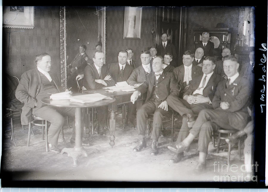 Leaders At Steel Strike Meeting Photograph by Bettmann