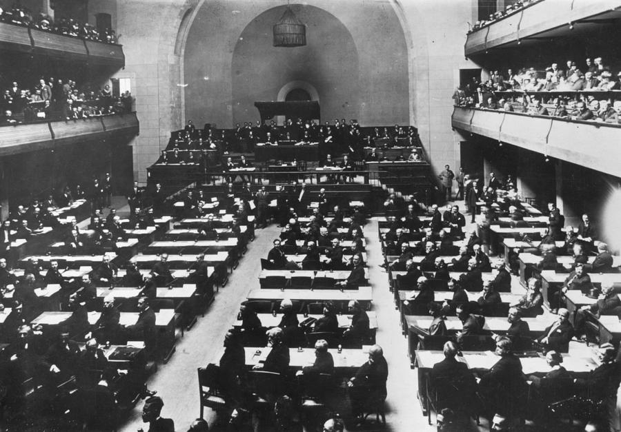 League Of Nations Photograph by Hulton Archive