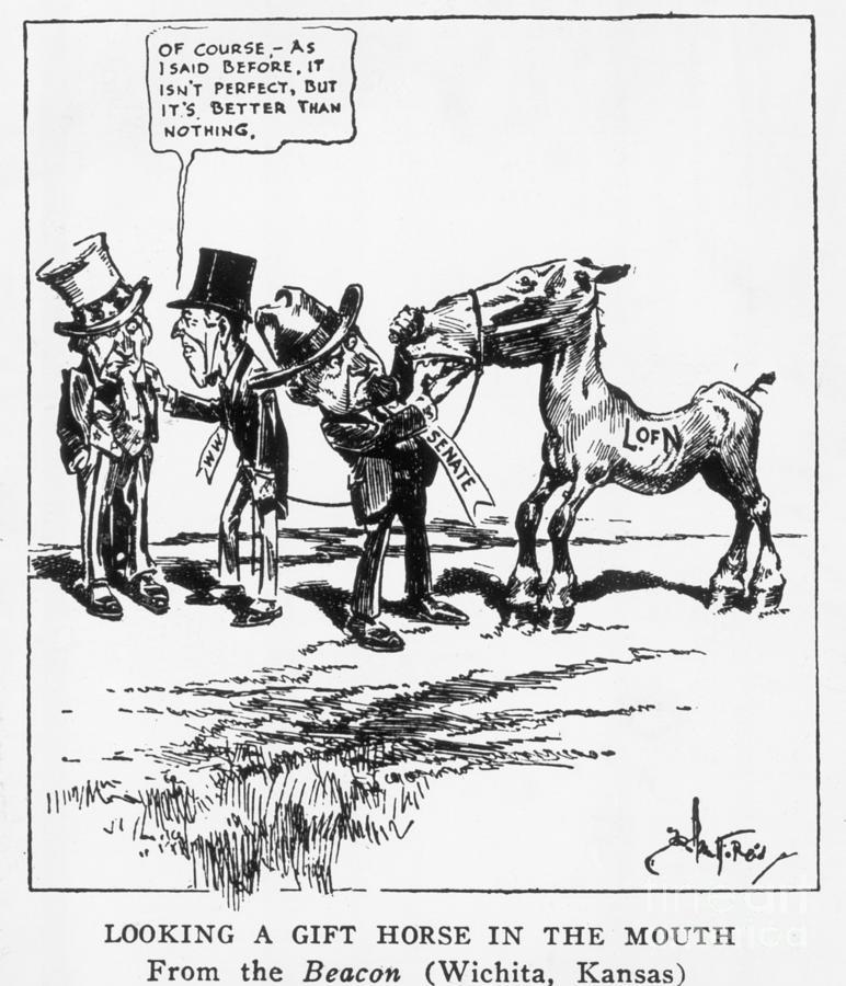 League Of Nations Political Cartoon Photograph by Bettmann