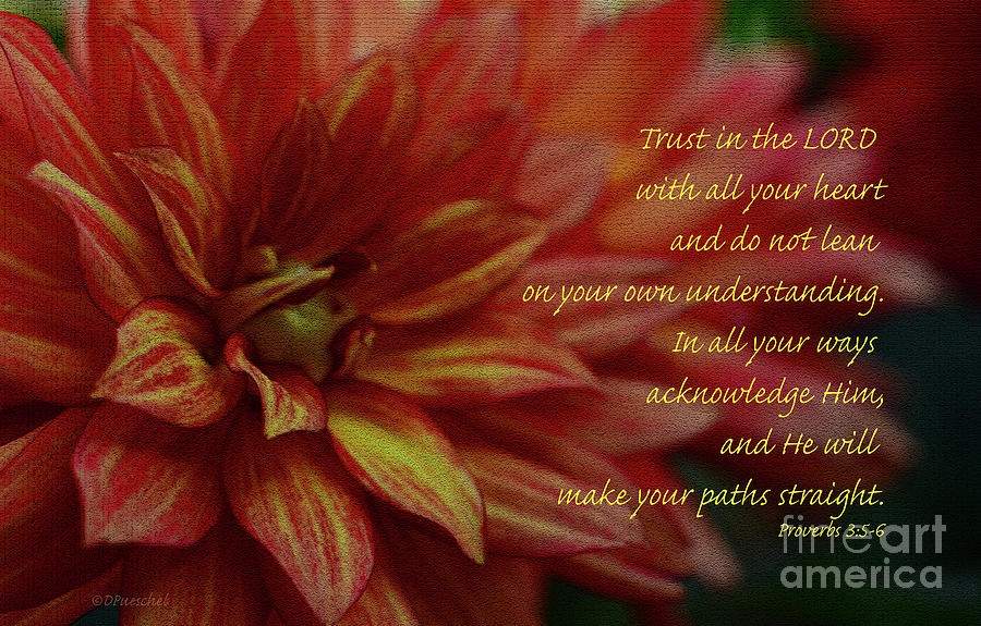 Lean Not on Your Understanding Dahlia by Debby Pueschel