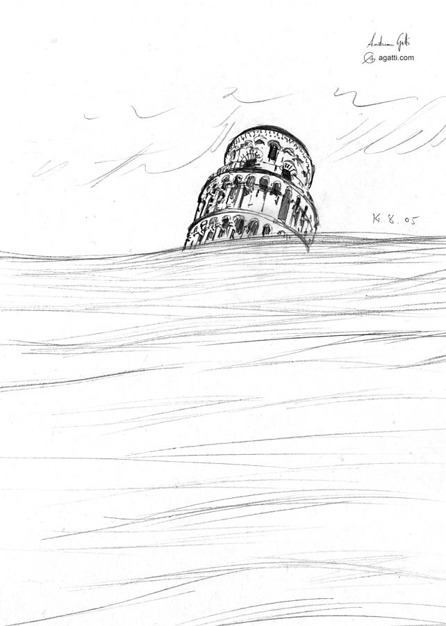 Leaning Tower Of Pisa Drawing Drawing