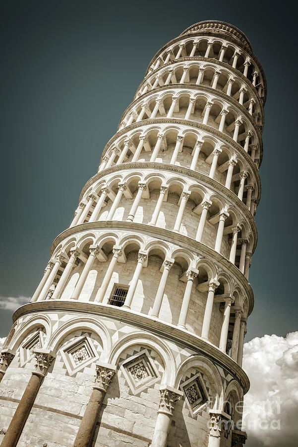 Pisa Photograph - Leaning Tower Of Pisa, Tuscany Italy by Delphimages Photo Creations