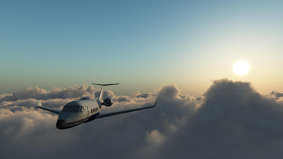 Learjet 60 Above The Clouds Photograph by Joelena