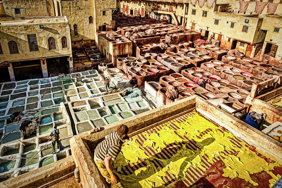 Leather Tannery - Morocco by Stuart Litoff
