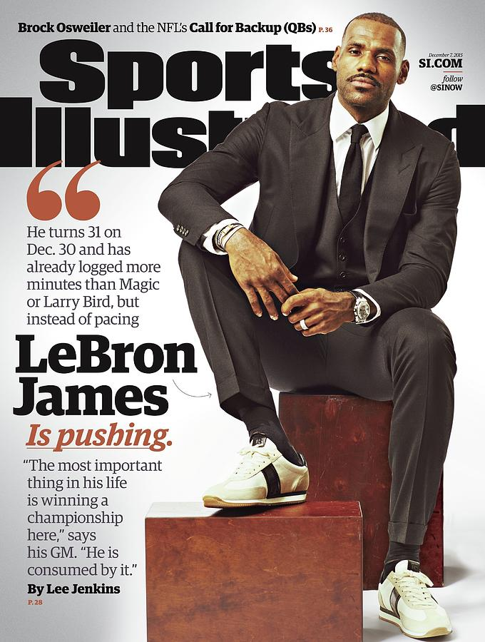 LeBron James Is Pushing Sports Illustrated Cover Photograph by Sports Illustrated