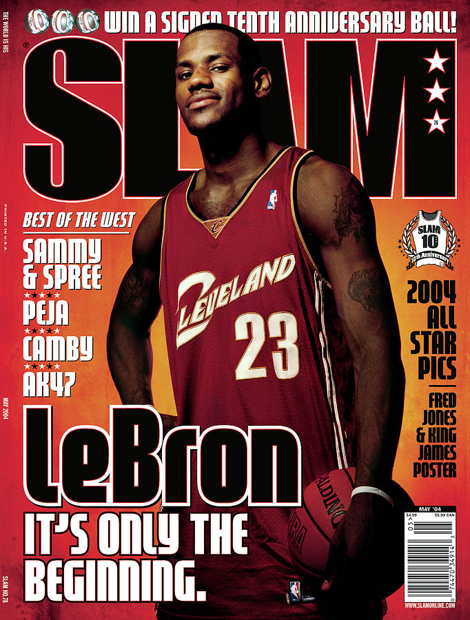 LeBron James: Its Only the Beginning SLAM Cover Photograph by Clay Patrick McBride