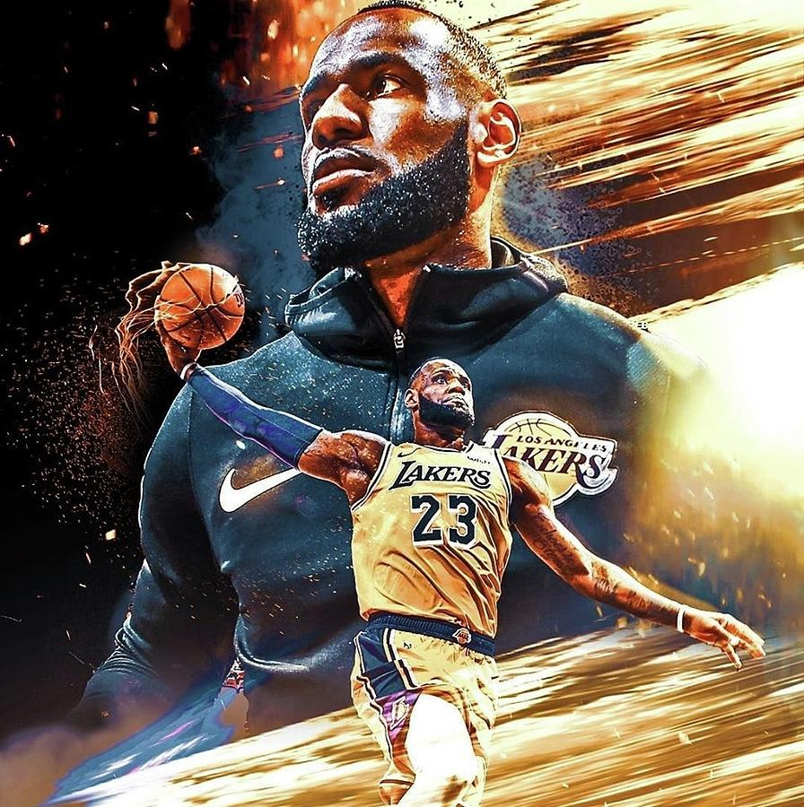 Lebron James Lakers Painting By Derek Coito