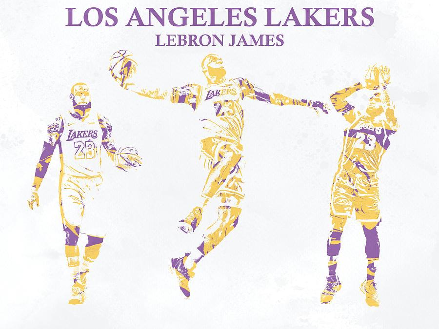 b19a757106c7 Lebron James Los Angeles Lakers Pixel Art 23 Mixed Media by Joe ...