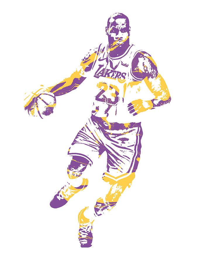 da3a3e864a8d Lebron James Los Angeles Lakers Pixel Art 3 Mixed Media by Joe ...
