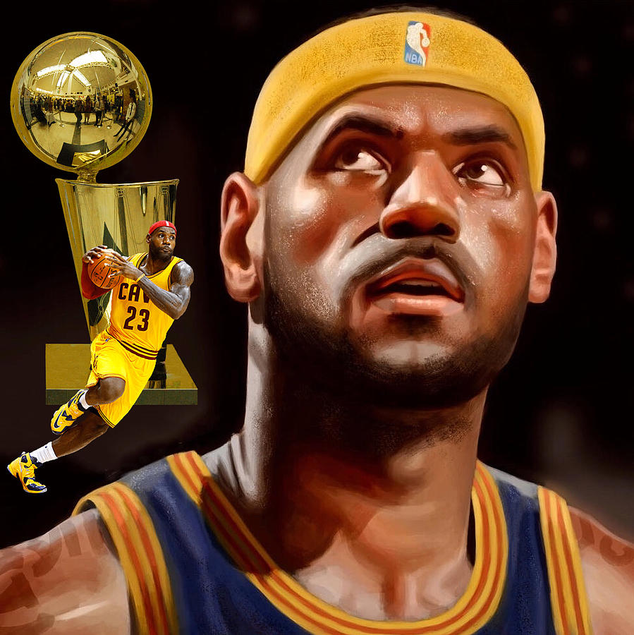 Football Digital Art - Lebron by Karen Showell