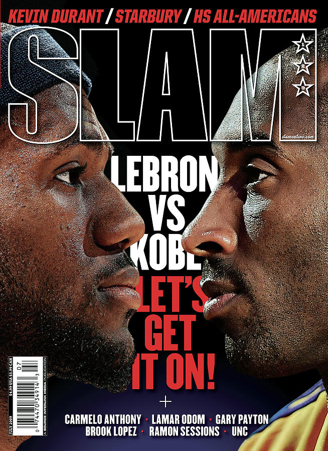 Lebron vs. Kobe: Lets Get it On! SLAM Cover Photograph by Getty Images