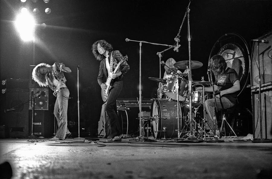 Performance Photograph - Led Zeppelin At The Forum by Michael Ochs Archives