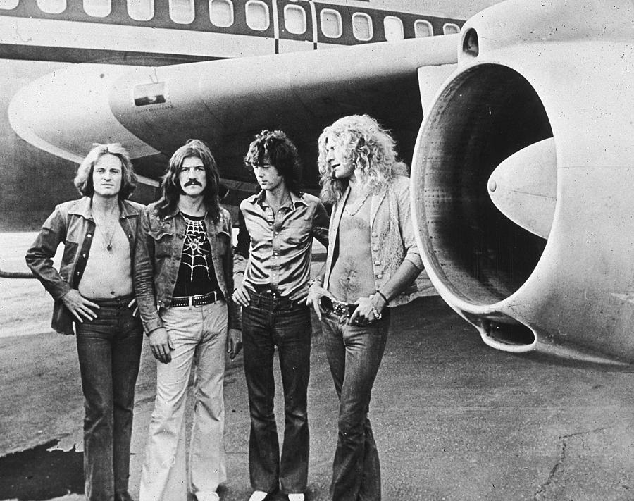 Led Zeppelin With Jet Photograph by Hulton Archive