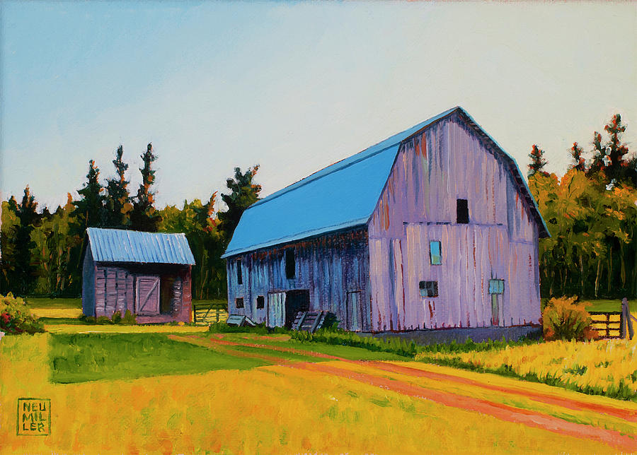 Barn Painting - Lee Farm by Stacey Neumiller