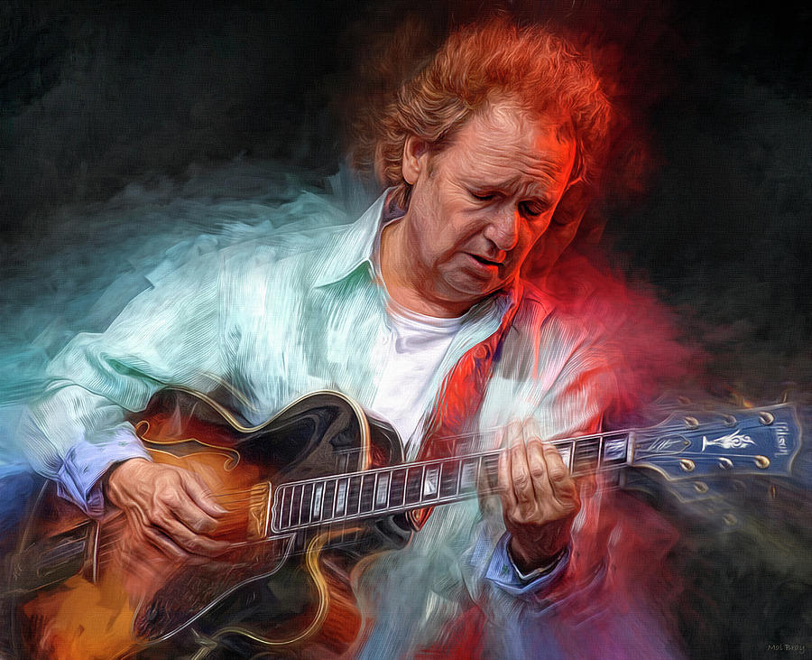 Lee Ritenour Mixed Media - Lee Ritenour by Mal Bray