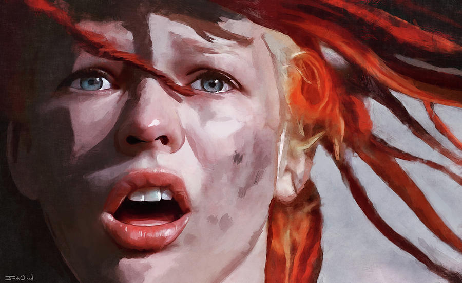 Leeloo The Fifth Element Painting By Joseph Oland