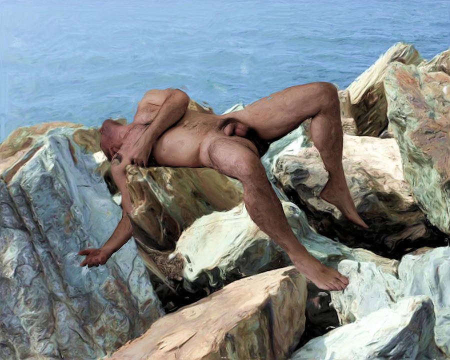 Left on the Rocks by Nude Male Art
