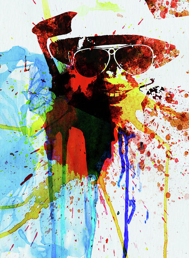 Johnny Depp Photograph - Legendary Fear And Loathing Watercolor by Naxart Studio