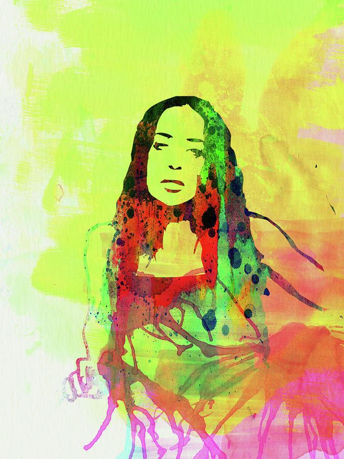Fiona Apple Mixed Media - Legendary Fiona Apple Watercolor by Naxart Studio