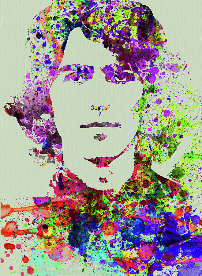 Beatles Mixed Media - Legendary George Harrison Watercolor II by Naxart Studio
