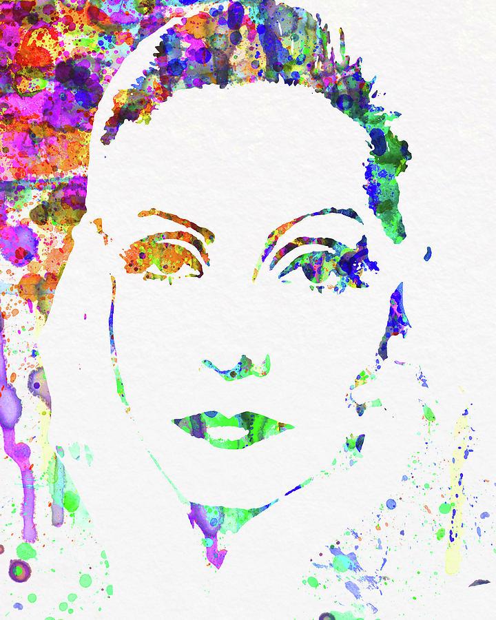 Ingrid Bergman Mixed Media - Legendary Ingrid Bergman Watercolor by Naxart Studio