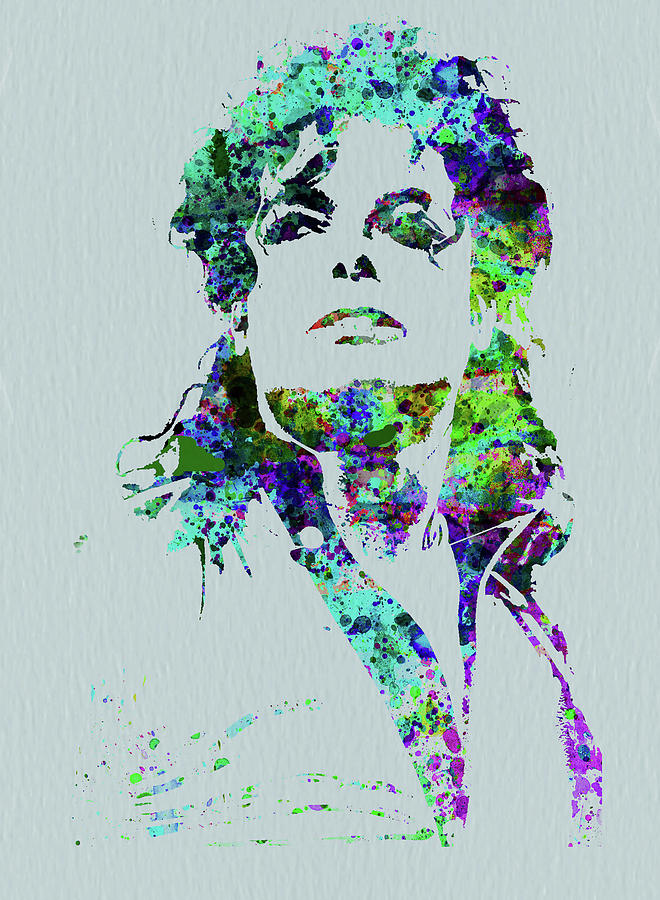 Michael Jackson Mixed Media - Legendary Michael Watercolor by Naxart Studio