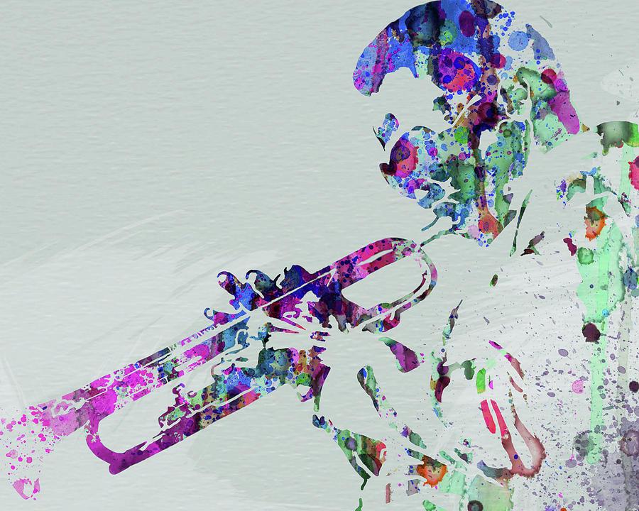 Miles Davis Mixed Media - Legendary Miles Davis Watercolor by Naxart Studio