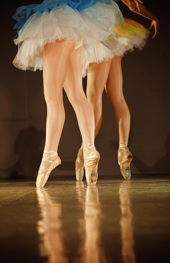 Legs Of Ballerinas - Balet Background Photograph by Art-4-art