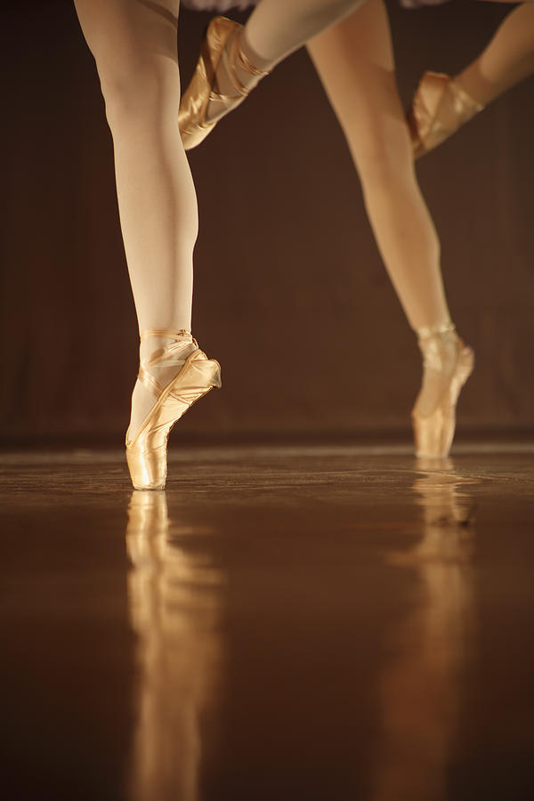 Legs Of Dancing Ballerinas - Balet Photograph by Art-4-art
