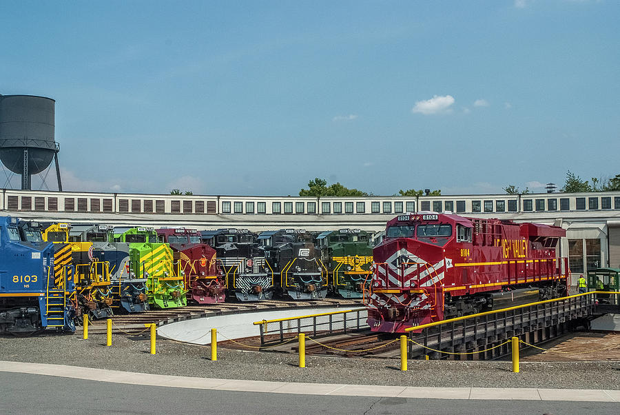 Lehigh Valley Railroad on the Turntable by Matthew Irvin