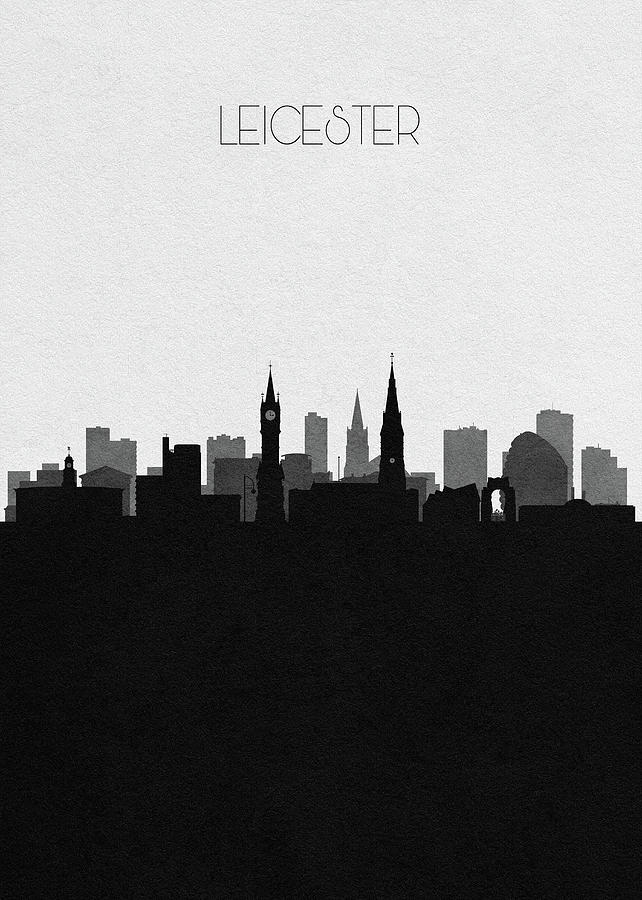 Leicester Drawing - Leicester Cityscape Art by Inspirowl Design