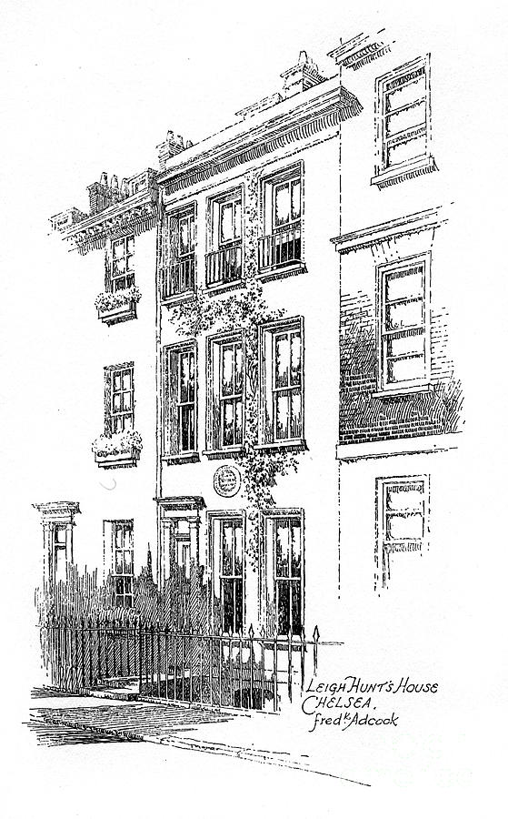 Leigh Hunts House, Chelsea, London Drawing by Print Collector