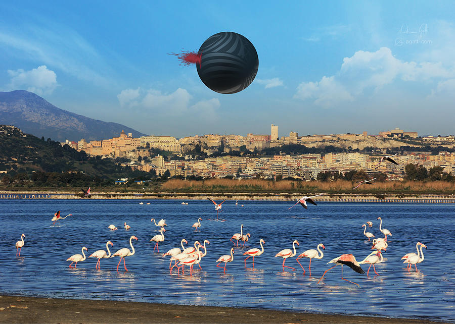 Leliel Over Cagliari Digital Art